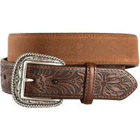 Men genuine leather belt western cowboy hand tooled leather belt waist strap