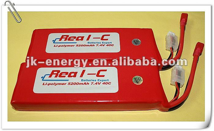 5200mAh 40C 7.4v li-po rc battery