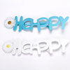 "New Products 2018 Innovative Product ""HAPPY"" Letters Shaped Party Glasses for Valentines Gifts and Christmas Decoration"
