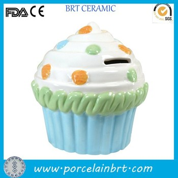 Ceramic funny ice cream coin bank