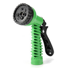 Garden sprayer gun garden hose nozzle 8 way spray pattern - jet, mist, shower, <strong>flat</strong>, full, center, cone