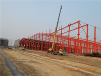 china prefab steel structure frame warehouse workshop plant design detailing