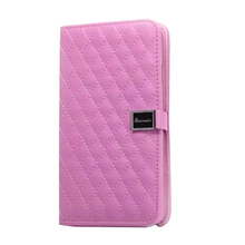Relief Flip PU Leather Wallet Case For Samsung Note3, Lozenge Embossing PU Leather Phone Case For Samsung Note 3