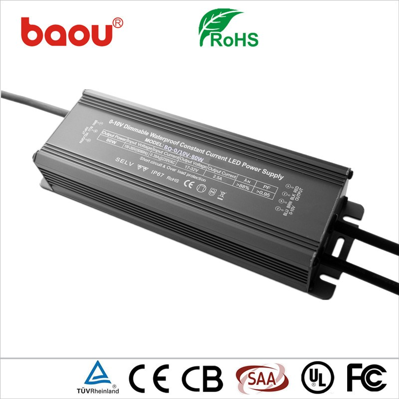 Baou High-quality 0-10V 80W Dimming LED Driver Power Supply