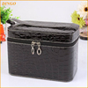High Quality Genuine Leather Travel Cosmetic Bag PU Leather Hanging Toiletry Bag
