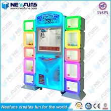 Attractive Colorful Lighting Lucky Box Claw Crane Machine Blue