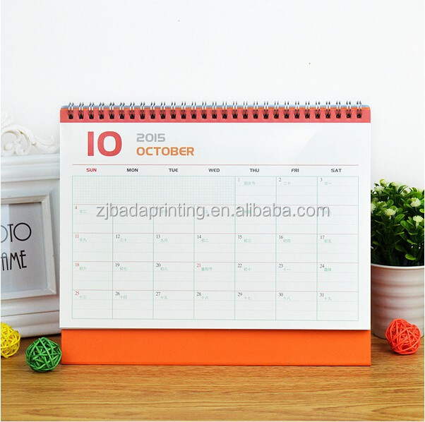Cute Mustache Desk Calendar/Hot Sale Calendar For Promotion/ Custom Table Calendar