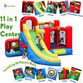 Happy Hop inflatable bouncer-9406N 11 in 1 Play Center combo slide bounce