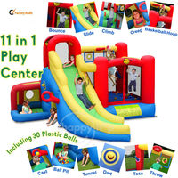 Play Center-9406N 11 in 1 Play Center combo slide bounce
