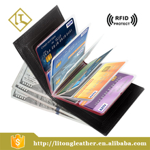 Slim Genuine Cowhide Leather Wallet Card Case Coin Purse Credit Card Protector RFID Blocking Wallet