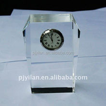 beauty crystal gift crystal table clock stand antique clock