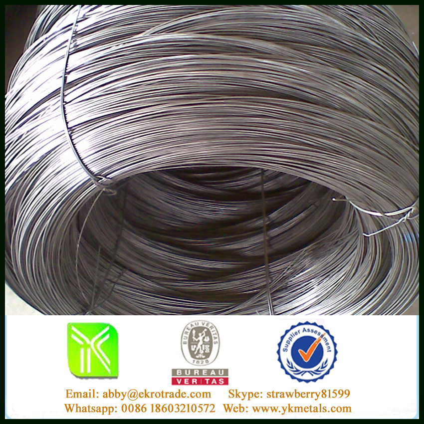 BWG21 Galvanized Wire, 5Kg/Roll, Woven Bag or Hessian Packing