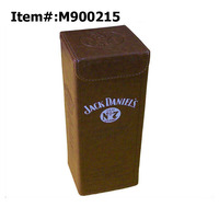 Luxury Stand Design Magnum Single Bottle Faux Leather Wine Box