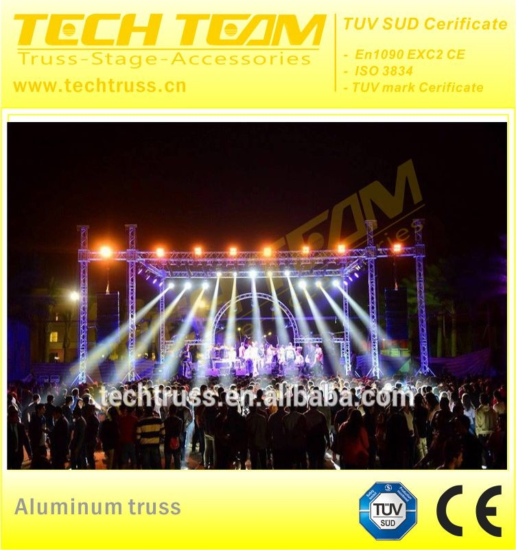 Outdoor aluminum mobile stage truss with wings system