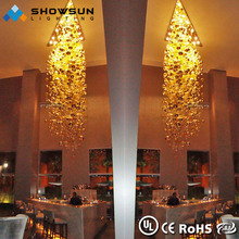 Hotel foyer beautiful chrome large project modern crystal chandelier