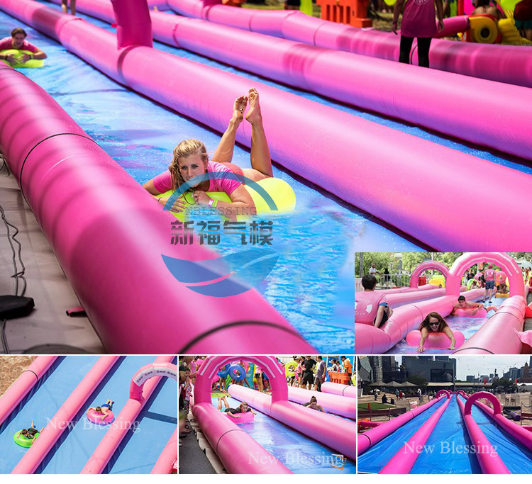 Longer inflatable water city slide,slip n slide for extreme fun outdoor water