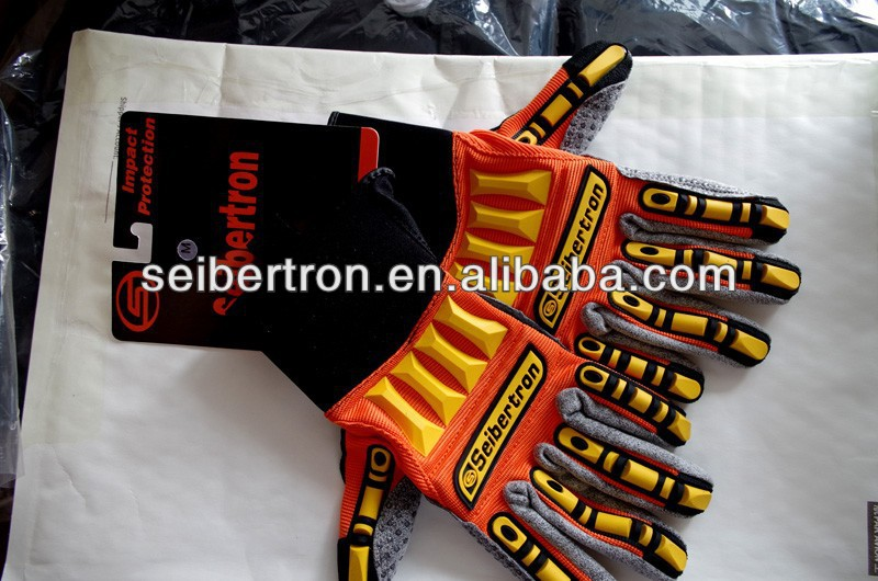 Seibertron Kong SDXW Impact Protection safety gloves Oil and Gas hand gloves Industrial hand gloves working gloves