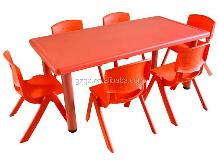 Cheap Plastic Dining Table And Chairs QX 194G Little Kids Table Kids Table