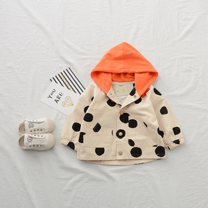 Spring Fashion Cute Design OEM Service Two Colors Baby Trench Coat