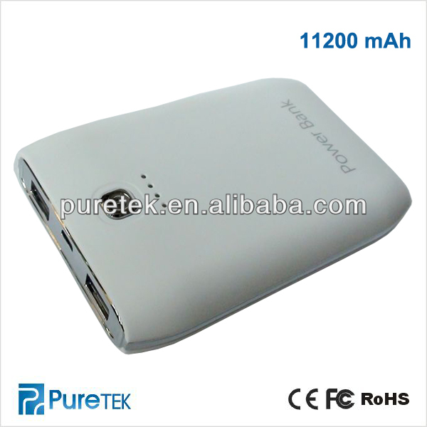 Best Selling High Capacity 11200mah Mobile Phone Protable Power Bank external battery changer