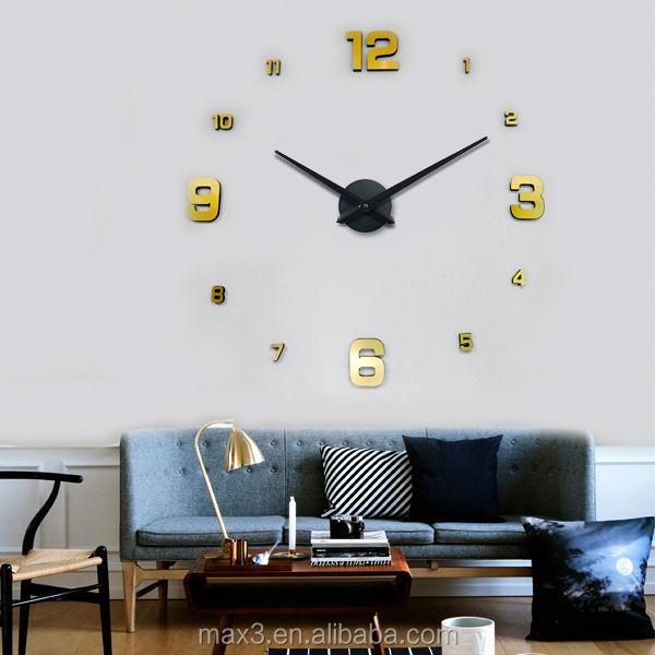 2016 acr lico transparente promocional reloj de pared la for Decoracion del hogar 2016