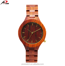 High quality rose wood butterfly clasp lady quartz wrist wooden watch