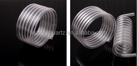 Customized Heat Resistant Clear Quartz Glass Coil Tube