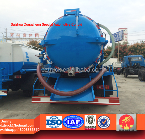 New arrival!!Dongfeng 4x2 Vacuum Sewer Cleaning Tank Truck, 11cbm Sewage Suction Truck