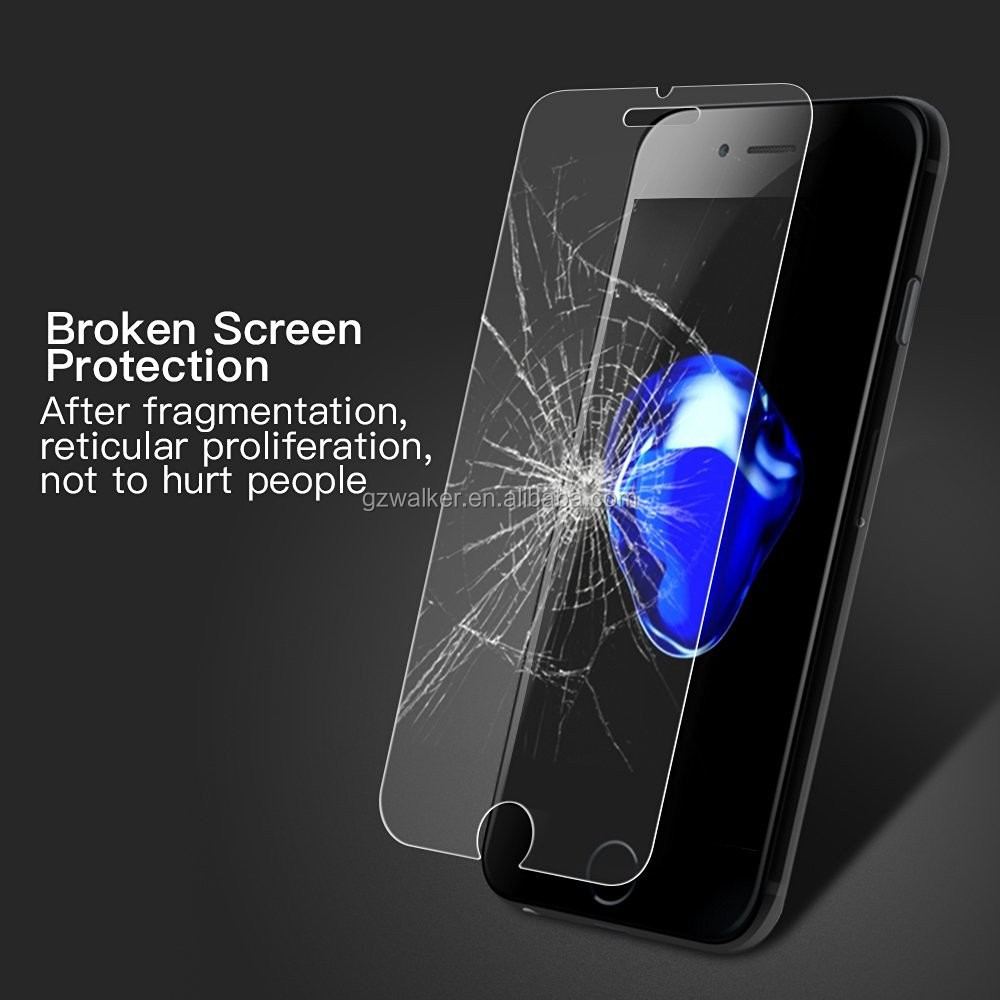 Free Sample Anti-Scratch 9H Transparent 2.5D Tempered Glass Screen Protector For iphone 7 tempered glass
