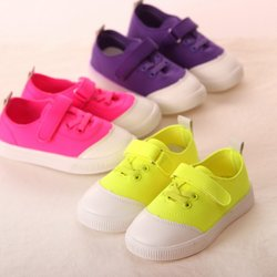 WV51 many colors first choice lovely kids military canvas shoes