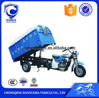 200cc water cooling cargo garbage tricycle dumper