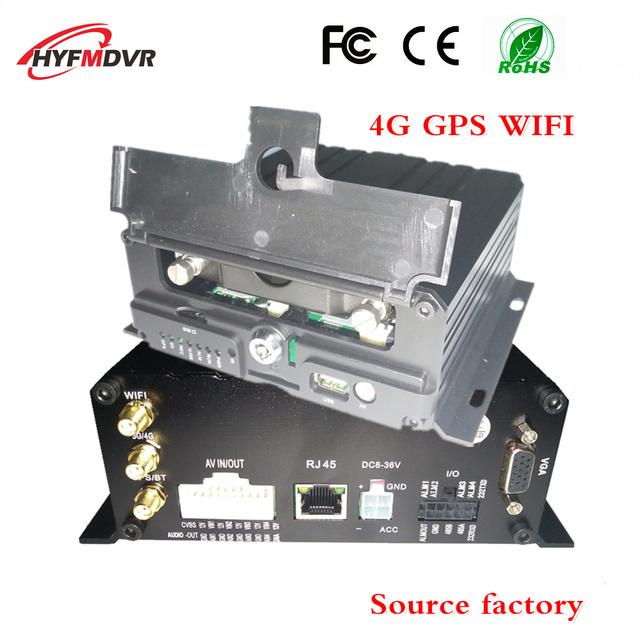 Multifunction AHD 4CH Wifi Mobile Dvr G-sensor Alarm I/O Cycle Recording 4g gps mdvr bus mobile dvr