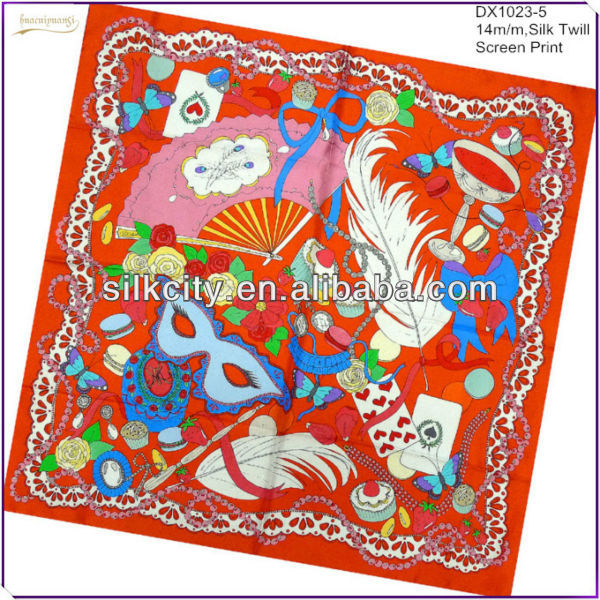 Factory Directly Free Samples Brand Design Printed Handkerchief