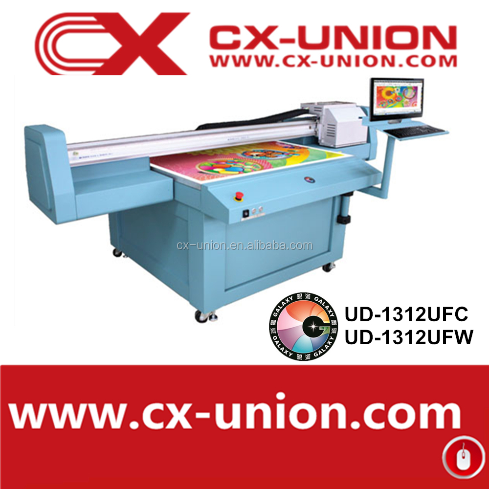 UV Flatbed Directly Printing Machine with double DX5 head with 8 colors for sale