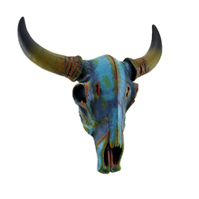 Wholesale Wall Mounted Animal Head Statues Resin Cow Skull