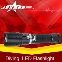 18650 battery diving devices equipment scuba diving flashlight