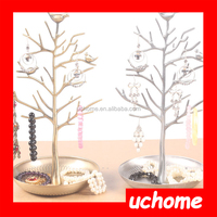UCHOME Earring Necklace Tree Display Organize Counter Metal Hanging Jewelry Rack