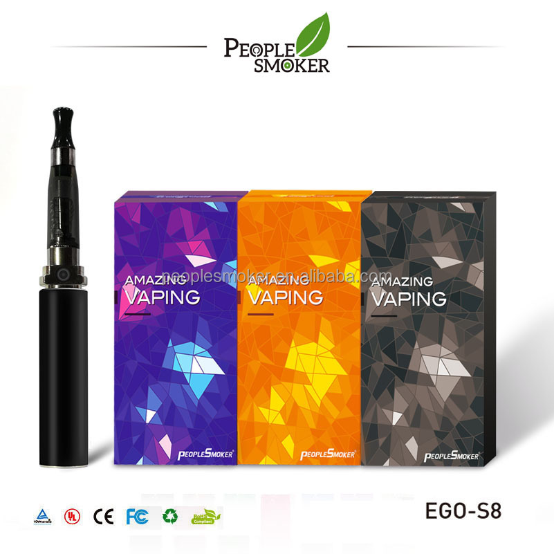 High capaicty 2200 mAh Ego S8 rechargebale e cig with ce4/ce6/bdc ce5 atomizer