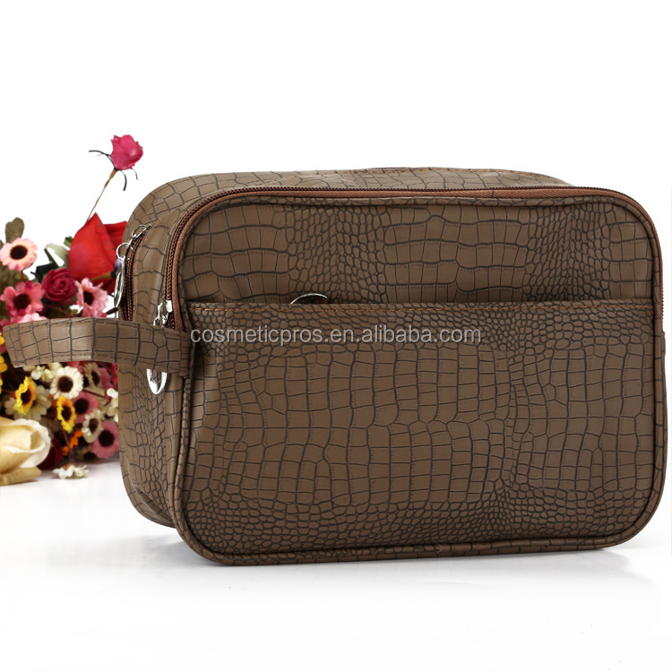 Factory Price Custom Travel Cosmetic Bag With a Handle Promotional T Men Toiletry Bag