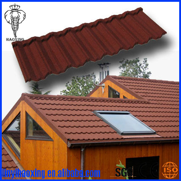 Low price colorful classic stone coated metal roofing tile to Kenya market