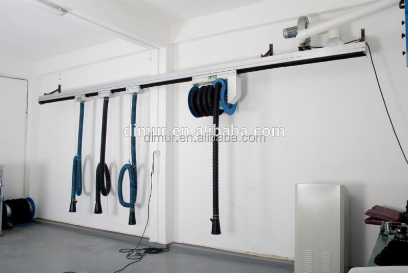 Car repair equipment of Exhaust Extraction System Slide Hose Reel