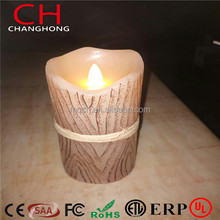 "Painted swing H 3""6"" For wedding party flameless candle set,electronic Melted LED candles light set"
