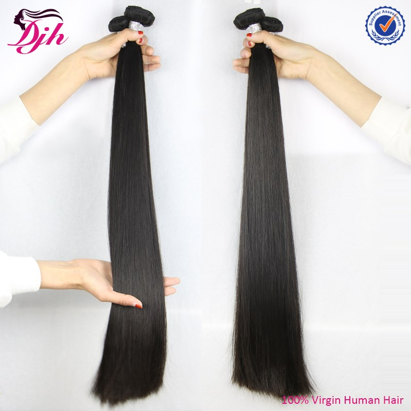 2016 Hot sale straight hair weave100% human hair virgin brazilian hair extension
