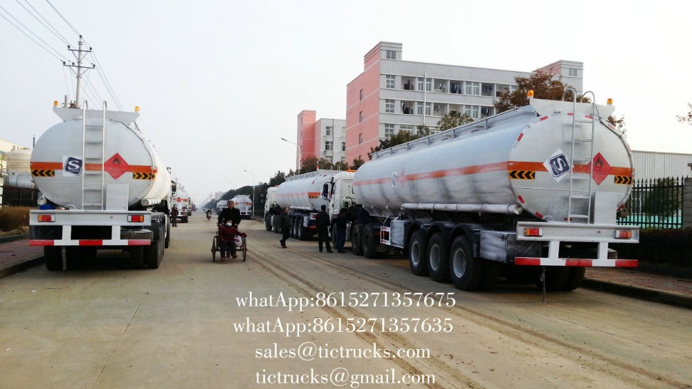 SS316L stainless steel liquid tank trailers 36000L-45000L Customization cell:+86-152 -7135-7675