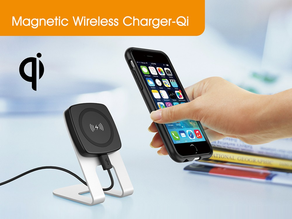 magnetic qi wireless charger buy wireless charger wireless mobile charger wireless mobile. Black Bedroom Furniture Sets. Home Design Ideas