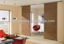 2012 modern brand new aluminum hardware system wooden sliding door