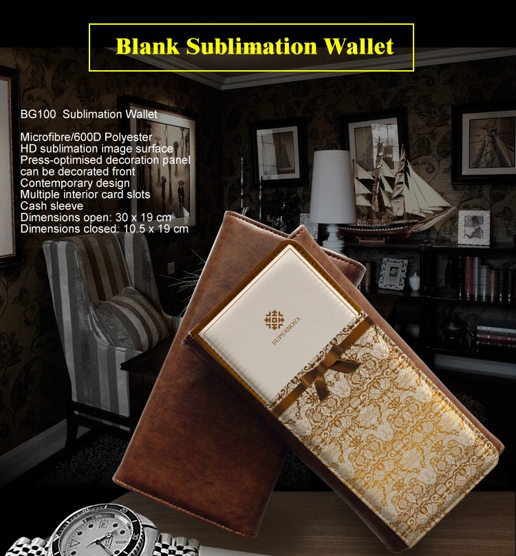 Sublimation Wallet, Custom Made Wallet, Blank Sublimation Wallet