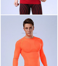 New fitness men Sportswear long sleeve basketball running sports t shirt men gym bodybuilding compression tights tee shirts
