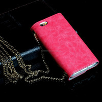 "Stocks in CA,USA Purse /Handbag Leather Case Cover For iPhone6 4.7"" Screen With Credit Holder 4 Colors"