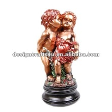 polyresin copper decorative two little angels models